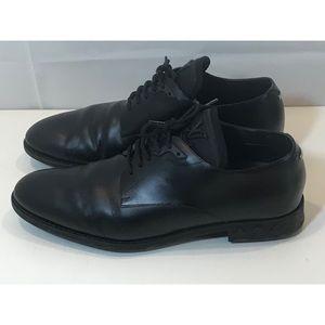 Louis Vuitton Black Leather Derby Lace Up Shoe